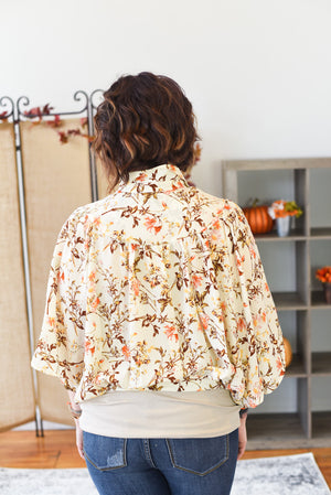 Stefania Floral Blouse - Ivory