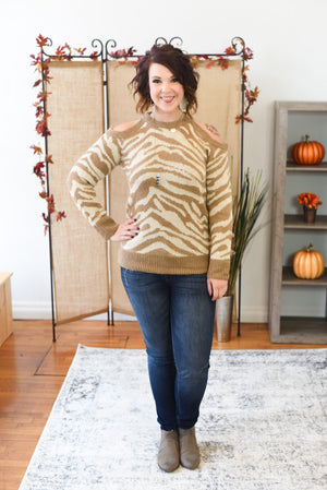 Sienna Cold Shoulder Sweater