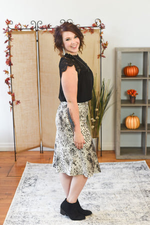 Serena Satin Printed Skirt