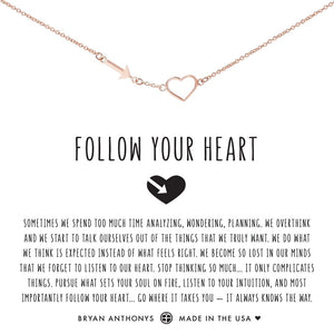 Follow Your Heart Necklace by Bryan Anthonys