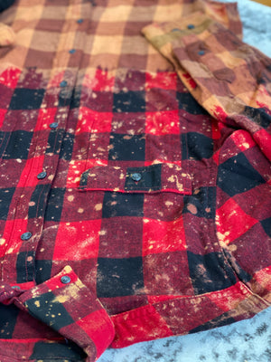 Bleached Buffalo Plaid Flannel