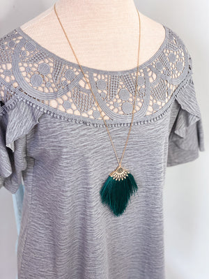 Paris Tassel Necklace