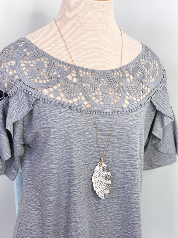 Briella Leaf Pendant Necklace