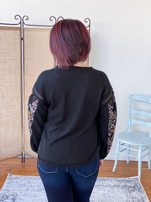 Florence Knit Top - Black