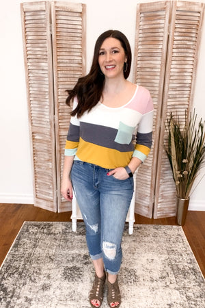 Lennyx Color Block Top