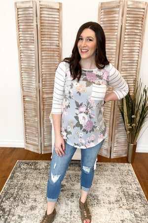 Adalee 3/4 Sleeve Top