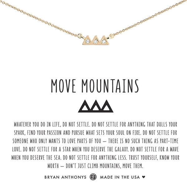Move Mountains Necklace by Bryan Anthonys