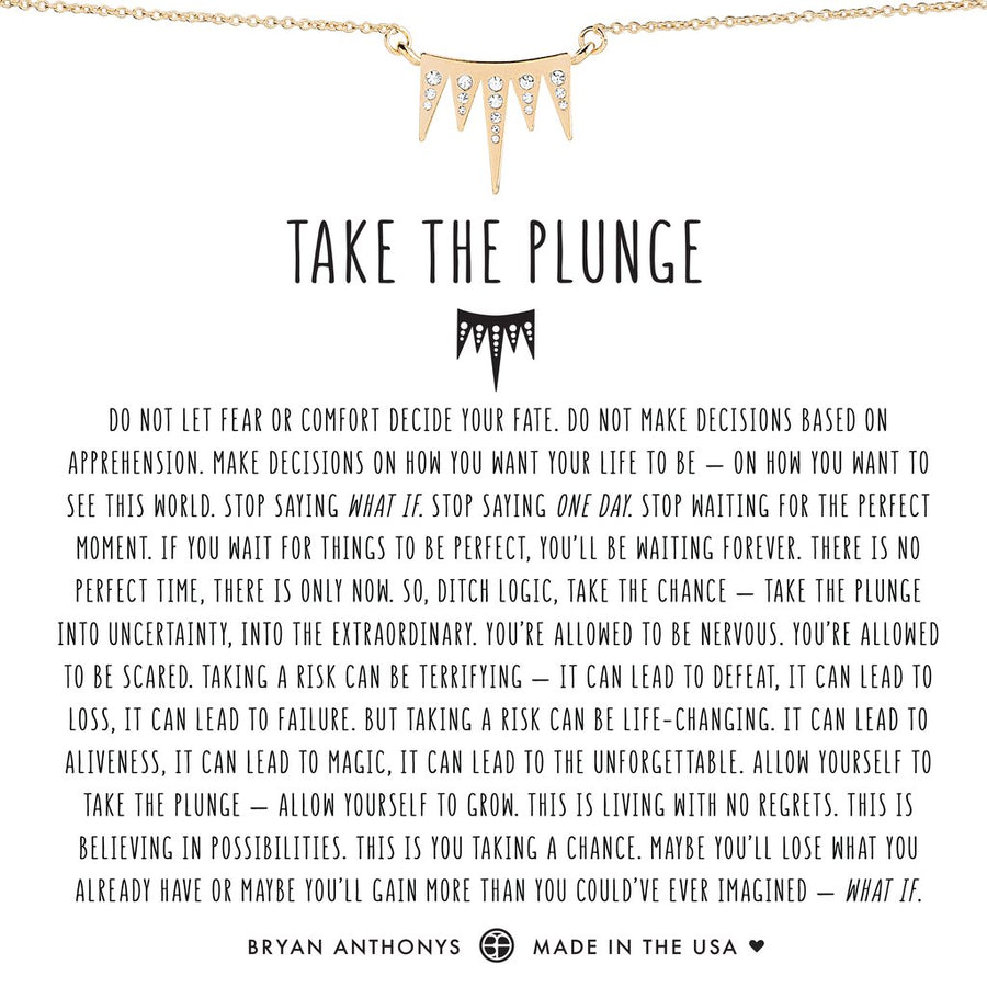 Take the Plunge Necklace by Bryan Anthonys