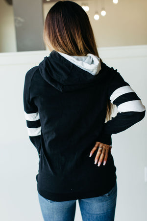 DoubleHood™ Sweatshirt -  Black Track