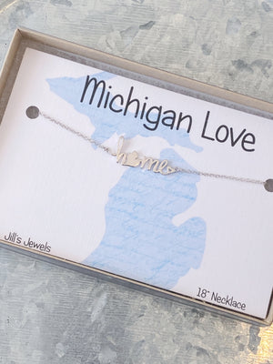 "Michigan ""Home"" Necklace"