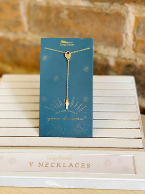 Y Necklace by Lucky Feather