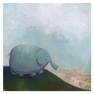 little elephant art | baby decor | matted print