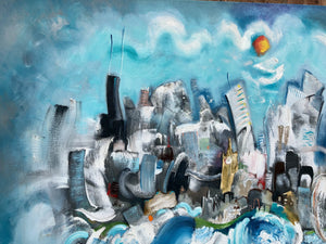 SOLD City in the Clouds SOLD music inspired skyline by Smigielski
