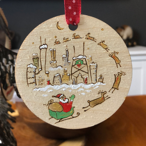 Chicago Santa Ornament