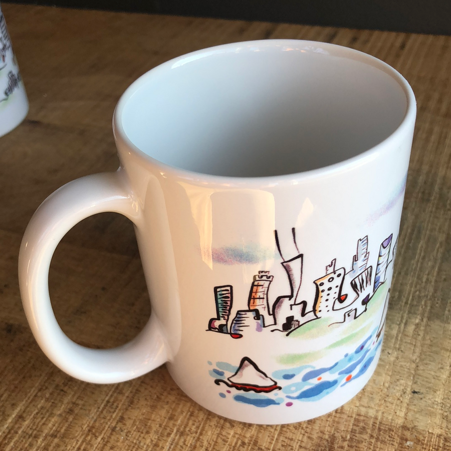 Chicago sailboats mug | affordable Chicago gift | functional art
