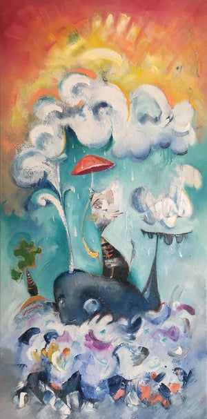 SOLD | Cat and Whale | sold smigielski painting