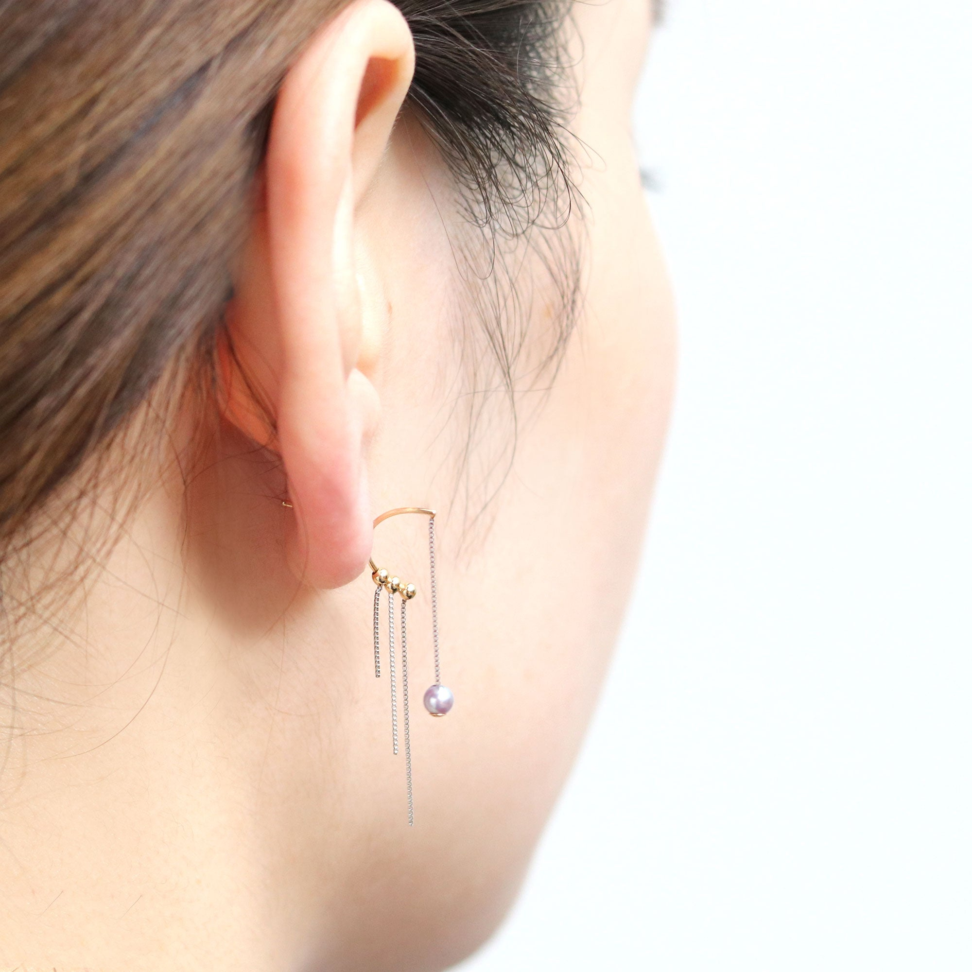 chain fall  earring