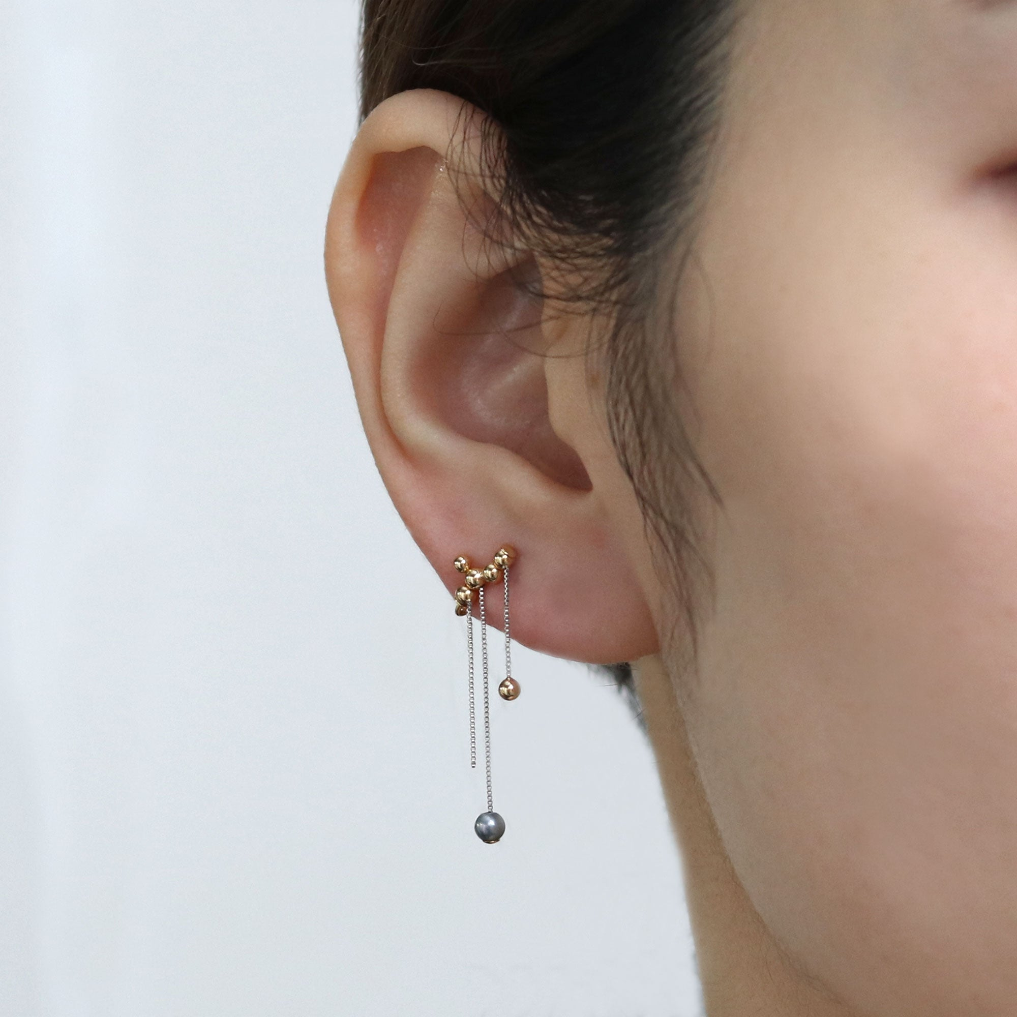 chain fall ear clip
