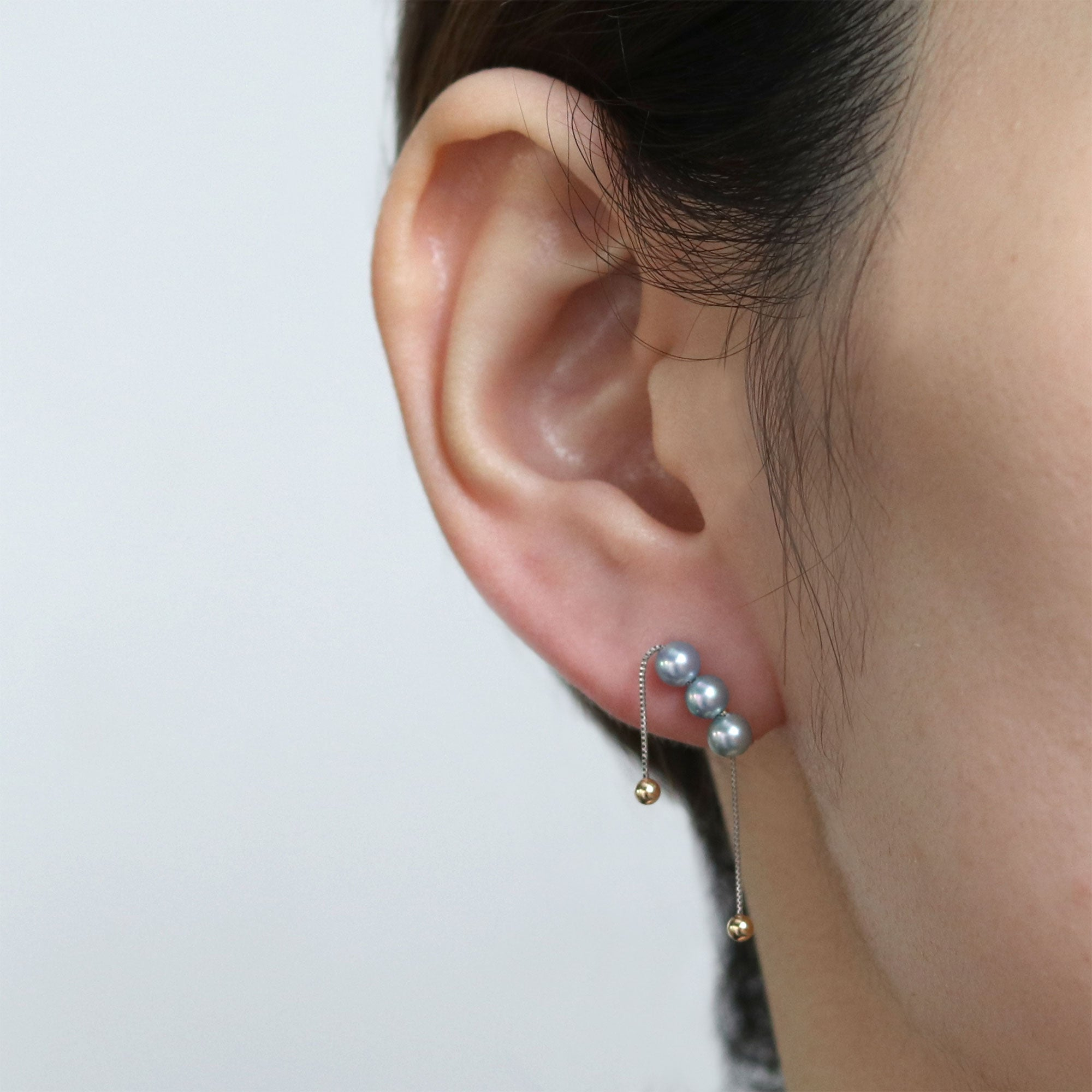 fall stone ear clip