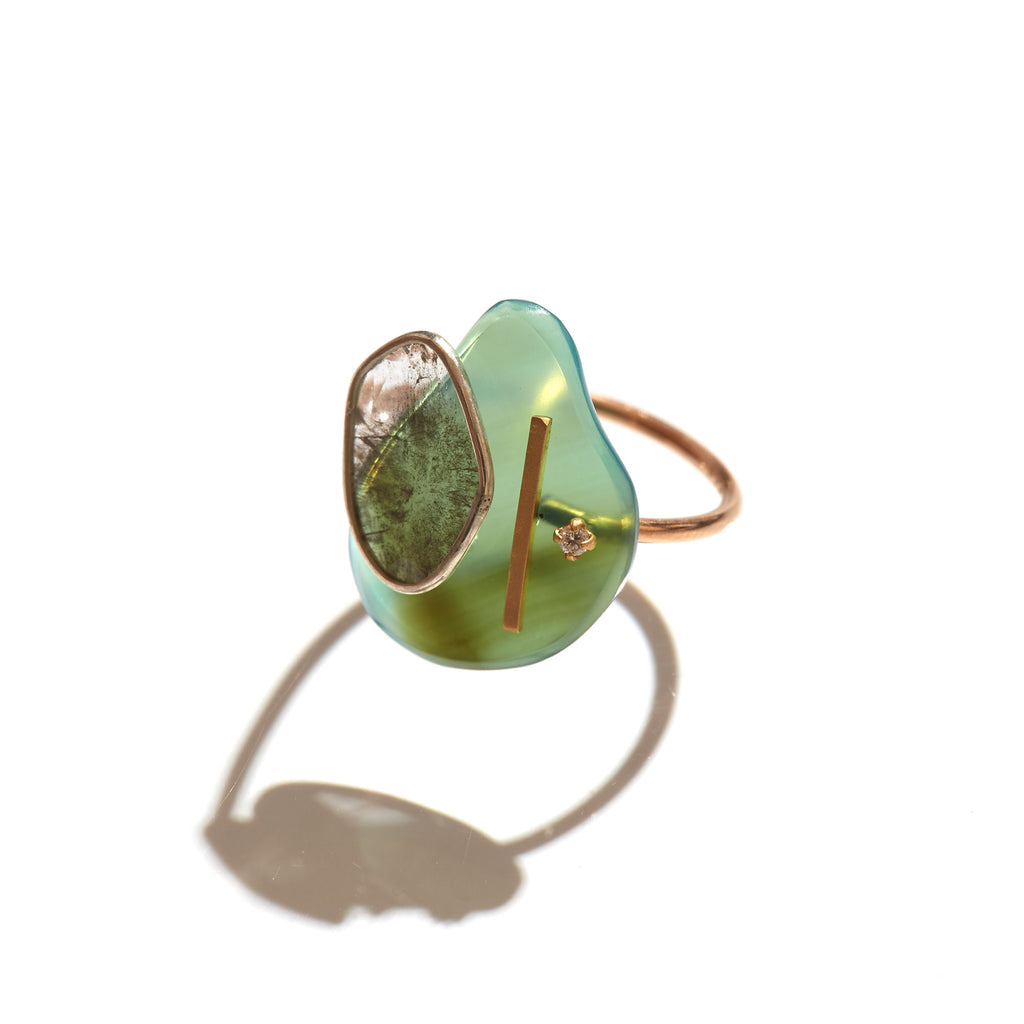 Agate art ring 2