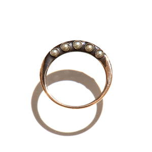 pre antique 5 baby pearl ring