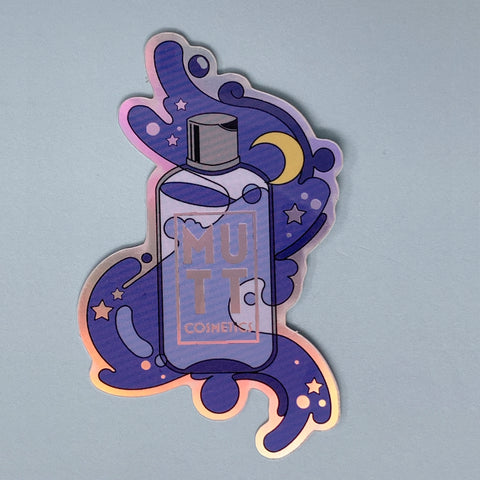 Mutt Cosmetics Holographic Bottle Sticker