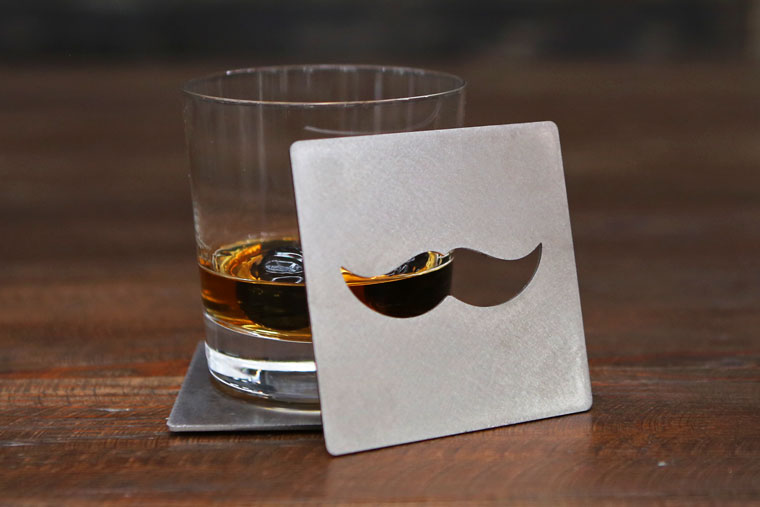 Mustache Coaster Bottle Opener by BOS Drinkware