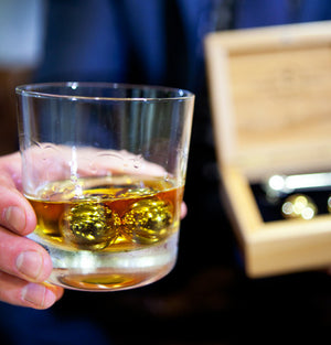 The Executive Set™ - 18K Gold Edition - Whiskey & Sprit Chillers -  - OriginalBOS - 3