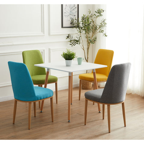 Nordic Style Dining Chairs with Seat Back Cushion and Metal Frame - Selectros