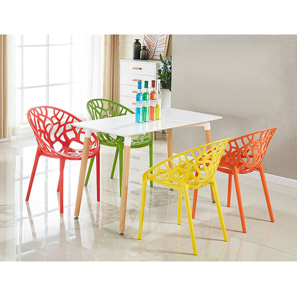 Nordic Style Dining Room Chairs Stacking Chairs For Home Office Decor - Selectros