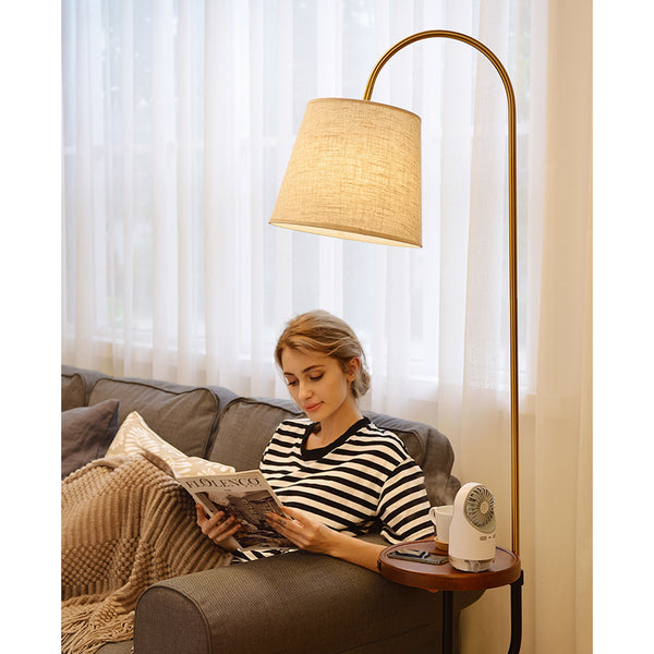 Nordic Style Wireless Bedside Floor Lamp W/ USB Charging Port - Selectros