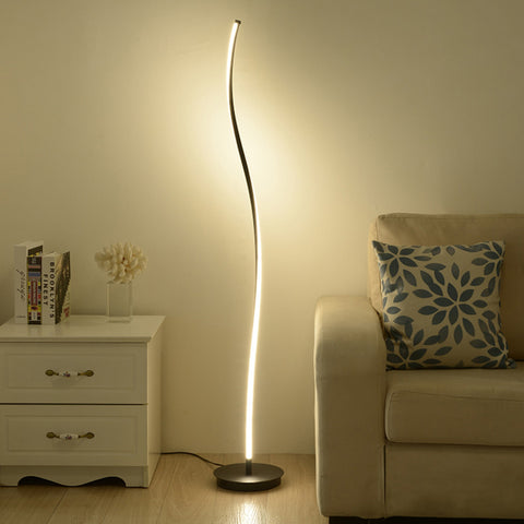 Minimalist Design Curved LED Floor Lamp Lantern Standing Light - Selectros