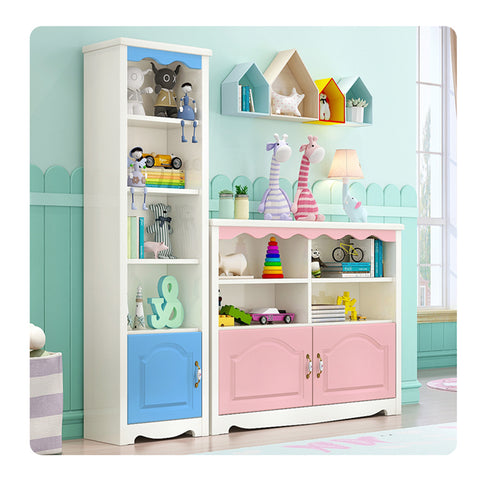 Bookcase Shelving Home Bedroom Organization Books Toys Display Rack - Selectros