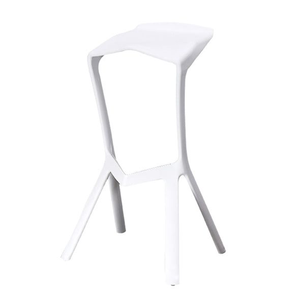 Modern Plastic High Bar Stool Nordic Bar Chair Cafe Bar Stool Chairs - Selectros