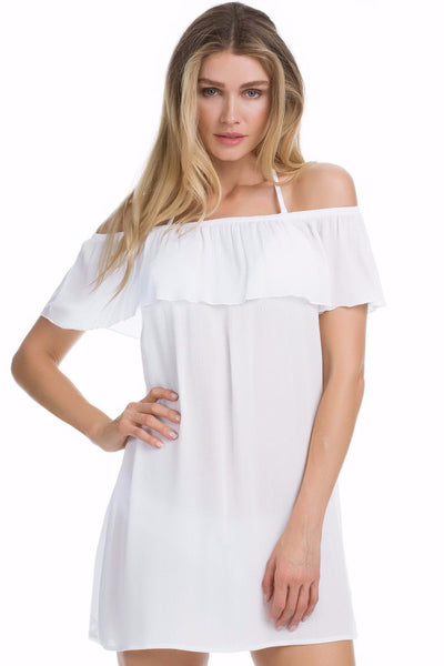 BECCA WHITE MODERN MUSE SOLID DRESS