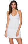SUNSETS WHITE LILY SUMMER CRUSH DRESS