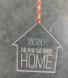 2020 Christmas Ornament {The Year We Stayed HOME}