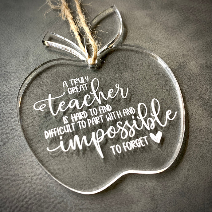 2020 Christmas Ornament {Teacher Apple}