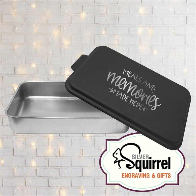 Aluminum Baking Pan {Meals and Memories Made Here}