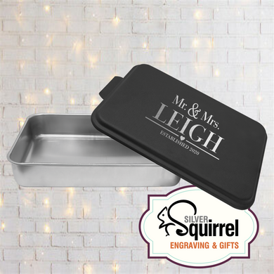 Aluminum Baking Pan {Mr & Mrs}