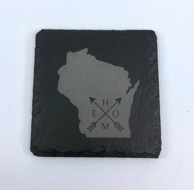 Square Slate Coaster {Wisconsin Home}