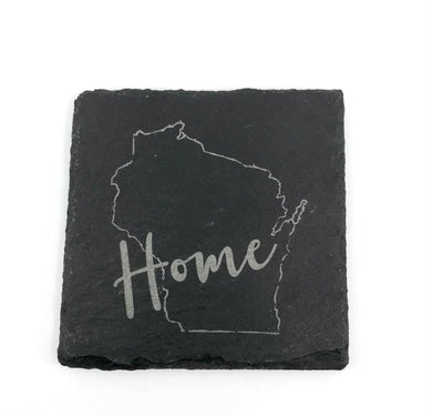 Square Slate Coaster {Wisconsin Home 2}