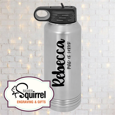 Laser Engraved Insulated Water Bottle {32 oz Polar Camel}