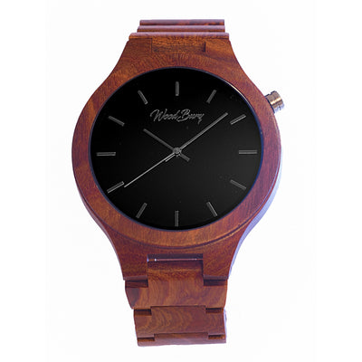 WoodBury Classic Watch - Red - Man - Luxurelle-Shop