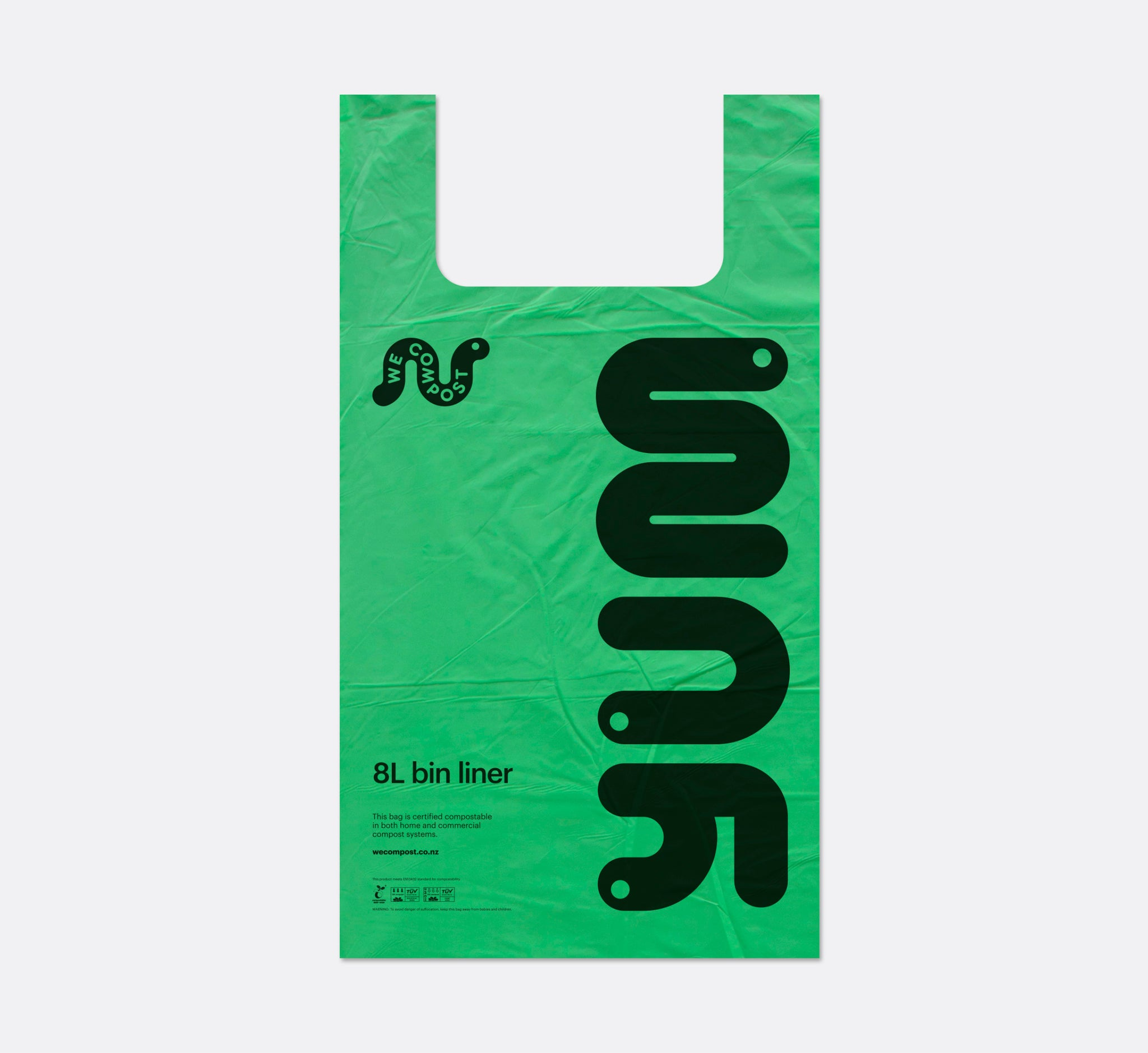 8L Compostable Singlet Bags/ Caddy Liners