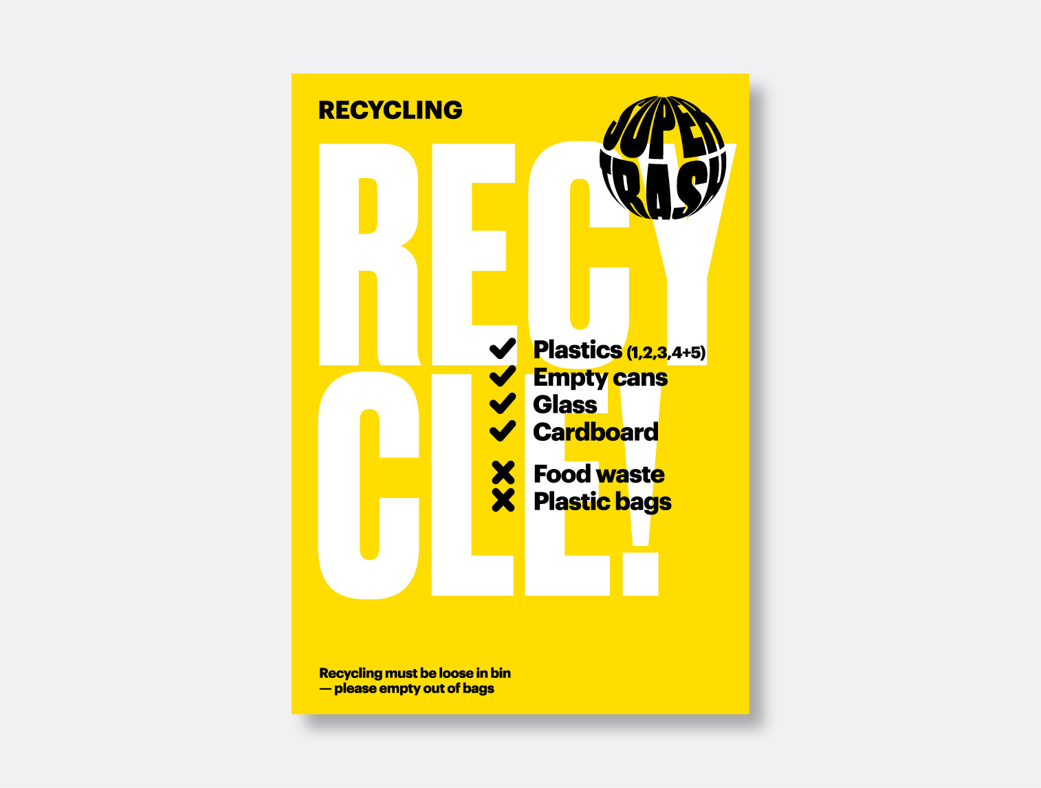 Recycle! Sticker <mark>Available in two sizes</mark>