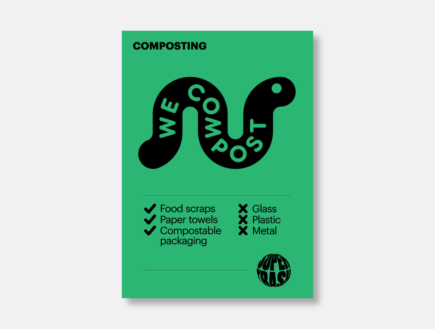 Compost! Sticker <mark>Available in two sizes</mark>