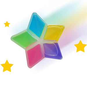 Colorful Non-Toxic Five Pointed Star Shape Crystal Mud DIY Safe Environmental Children Kids Crystal Mud Clay Toys