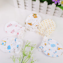 Winter Full Cotton Newborn Baby Anti Grasping Gloves Breathable Keep Warm Infant Face Protect Gloves 0-3 Months