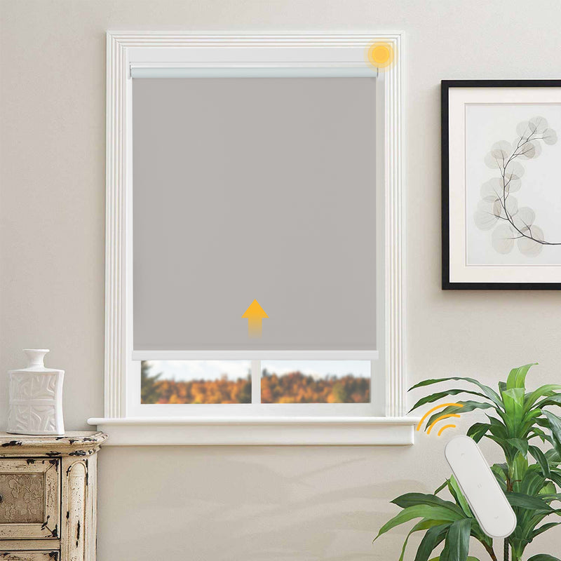 Blackout  Roller Shades  for Smart Home and Office  Chocolate  Motorized Shades